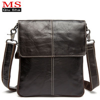 High Quality Men Messenger Bags Fashion Genuine Leather Bag Laptop Briefcase Man Crossbody Bags Casual Business