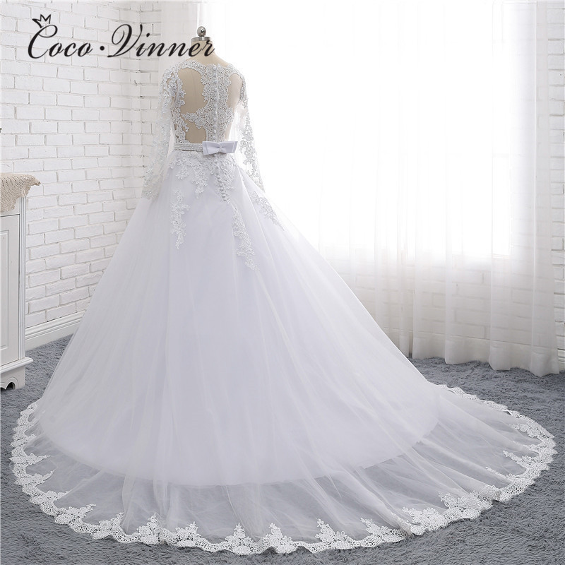 C.V Boat Neck Beaded Sashes Vintage Wedding Dress 2019 Embroidery Appliques  Pearls Crystal Beads Ball Gown Wedding Dresses W0007-in Wedding Dresses from  ... 823612976b31