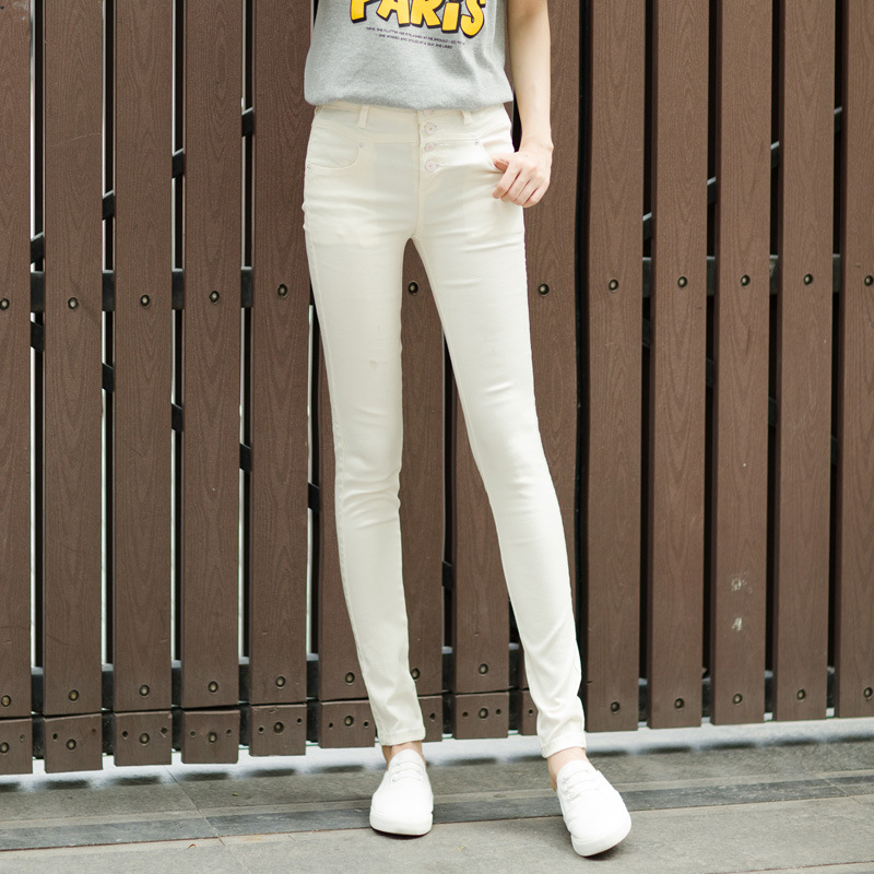 In the spring of 2016 new women s jeans waist slim pencil pants feet tight Korean