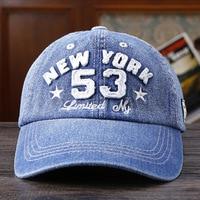 Hot Sale Unisex Fashion Denim Baseball Cap Snapback Hat For Men Women Sun Hat New York