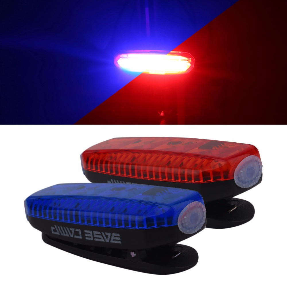 Basecamp Waterproof LED Bicycle Tail Light Bike Rear Light Night Riding Cycling Safety Warning Light Lamp with Retail Box