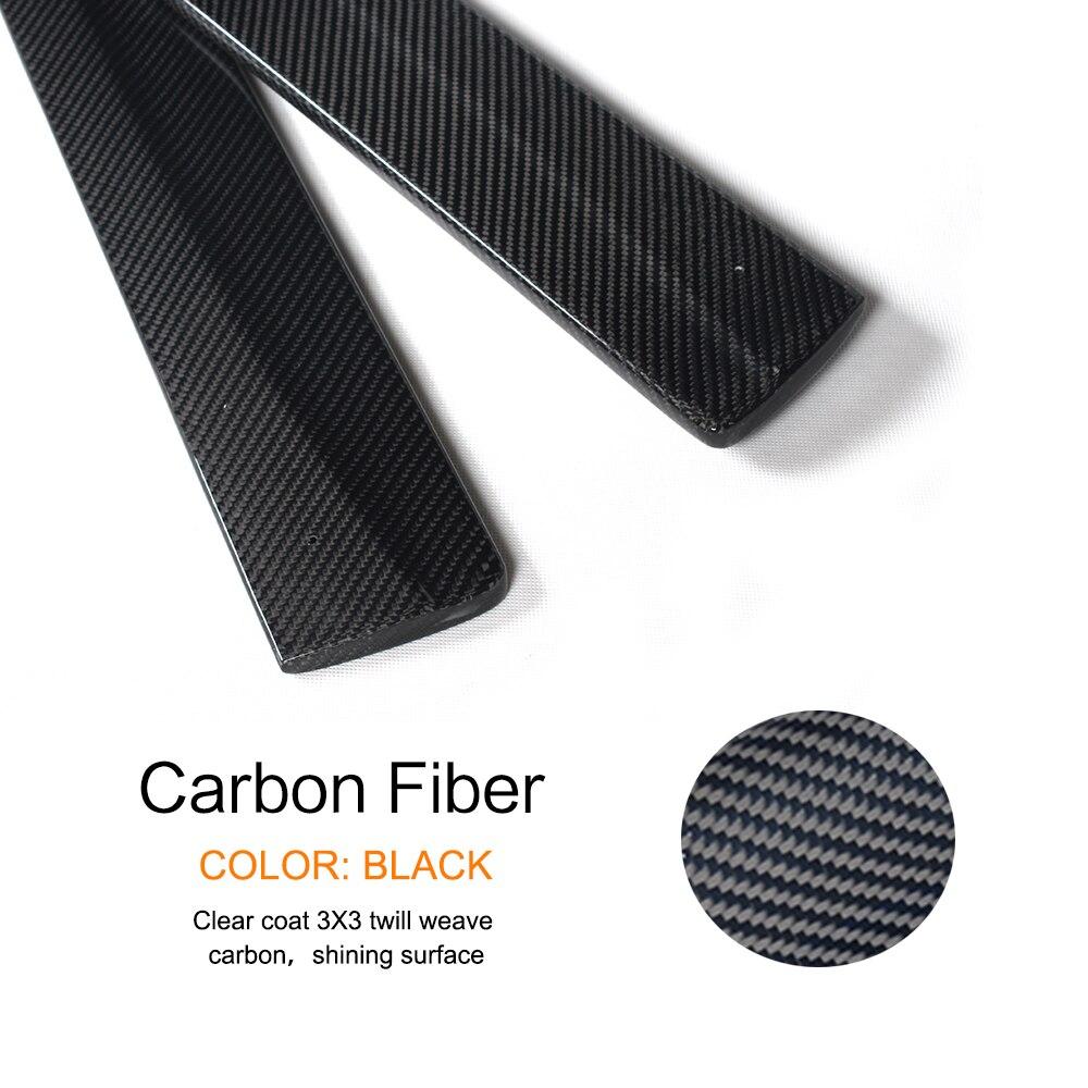 2PCS/Set Carbon Fiber Side Skirts Door Protector Lip Chin Aprons For BMW 4 series F32 M Tech M Sport Bumper Only 2014-2017