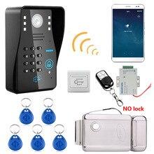 720 P Беспроводной WI-FI RFID пароль видео-телефон двери Дверные звонки домофон Системы Ночное видение + Электронные дверные замки + Водонепроницаемый доступа