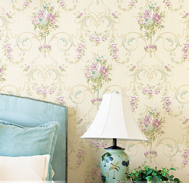European pastoral non-woven wall paper The sitting room the bedroom TV setting wall sweet romance green wallpaper european non woven wallpaper wall stickers bedroom living room tv setting wall paper wallpaper the sand classic stripes european