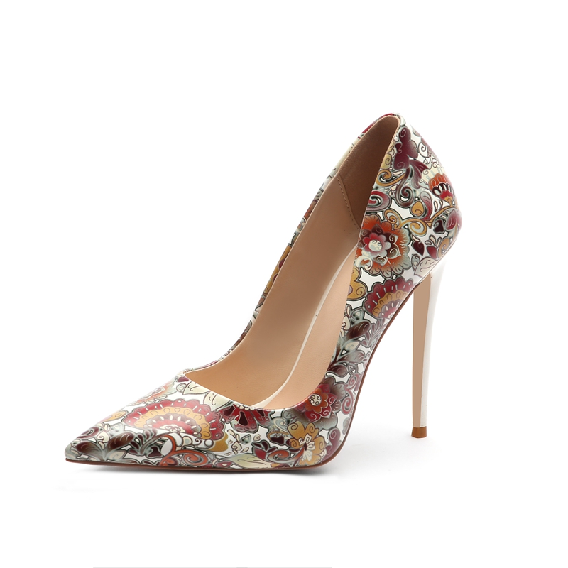 New Women Shoes pumps 12cm  High thin heels pointed Toe Party dress shoes lady Pumps