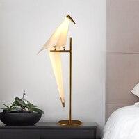 Светодиодный Nordic Стол lights прикроватная тумбочка для спальни светильники промышленные Ретро освещения дома деко освещения гостиная птицы н