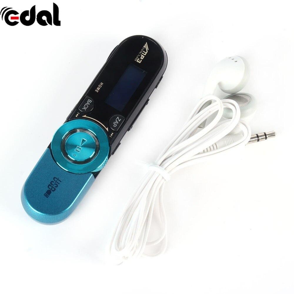 USB 16 GB TF charge USB Flash Lecteur MP3 Avec FM Radio Écouteur 6 Couleurs LCD HD Écran