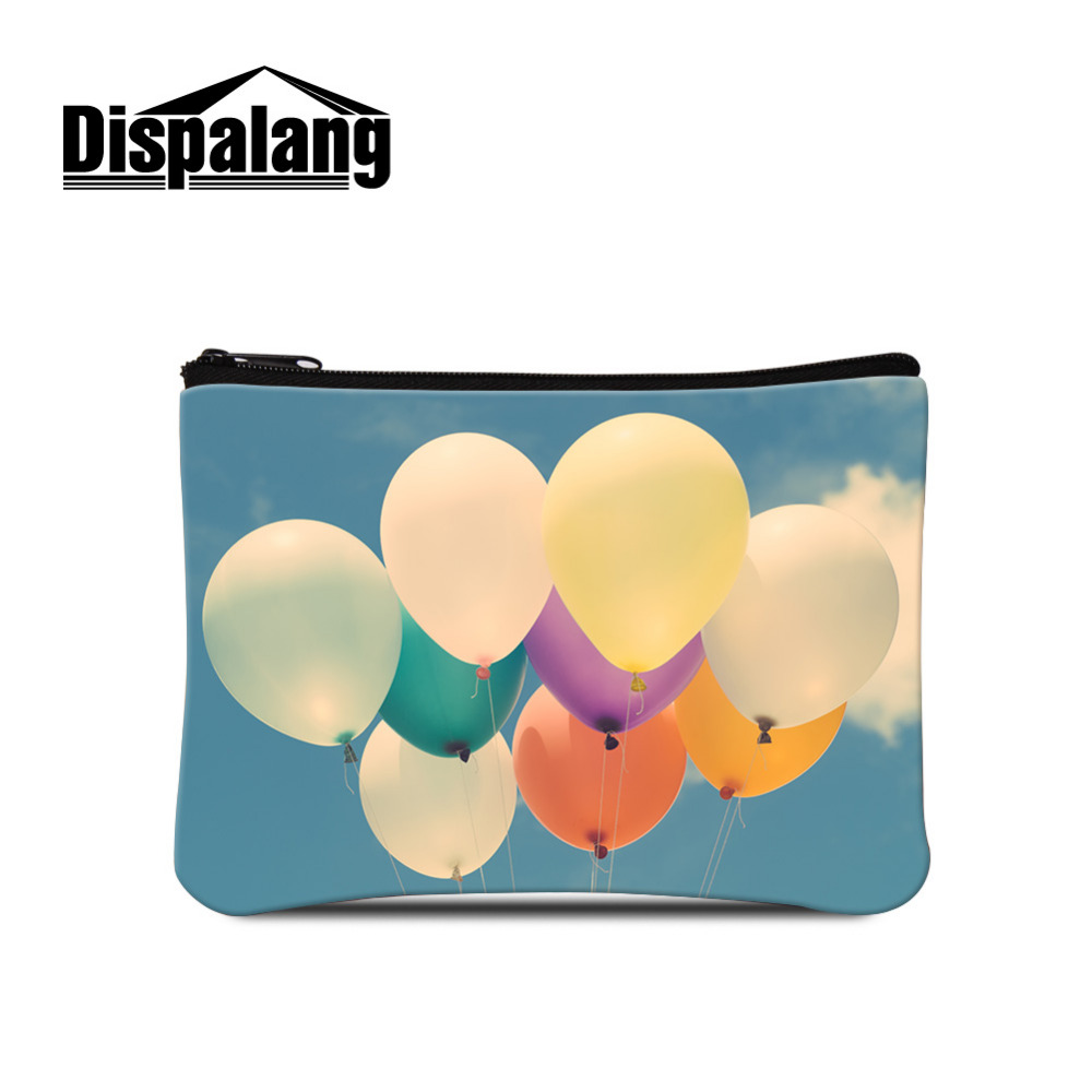 Dispalang Women Wallet Zipper Balloon Colorful Kids Coin Purse Fashion Brand Designer Girls Ladies Card Key Cell Phone Money Bag