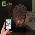 Cnhidee gramófono música 3D luz de la noche decoración de la boda mesa de escritorio Led Lampara luz USB para el dormitorio cocina sala de estudio