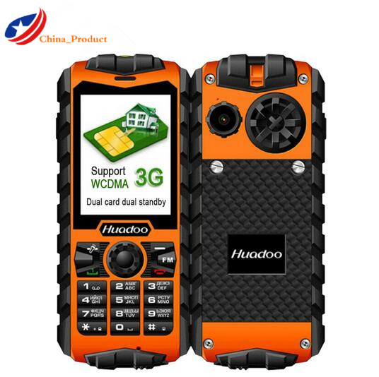 Gift Huadoo H3 IP68 Waterproof Shockproof 3G mobile phone Dual SIM Big speaker outdoor Elder people