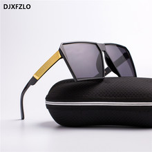 Square Oversized Sunglasses New Reflective Sunglasses Men Wo