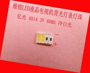 Image 1 - 200piece/lot for Maintenance LED LCD TV backlight Article lamp SMD LEDs 3V 4014 60MA Cold white light emitting diode