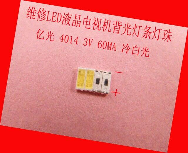 200piece/lot for Maintenance LED LCD TV backlight Article lamp SMD LEDs 3V 4014 60MA Cold white light emitting diode