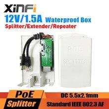 XINFI 48 V Naar 12V1. 5A PoE Splitter/Extender/Repeater IEEE802.3AF Voor IP Camera/AP Cascading Modus Met Waterdichte Doos