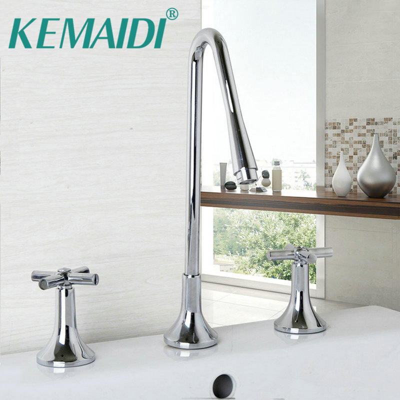 Kemaidi 3 Pieces Tall Bathroom Faucets