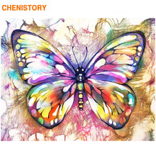 CHENISTORY Frame Butterfly DIY Painting By Numbers Colorful Paint By Numbers Wall Art Picture Coloring By Numbers For Home Decor(China)