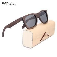 Polarized Sunglasses Wood Frame Sun Glasses Gray UV400 Polaroid Lenses Sunglass Vintage Oculos de sol Mens Sunglasses Eyewear