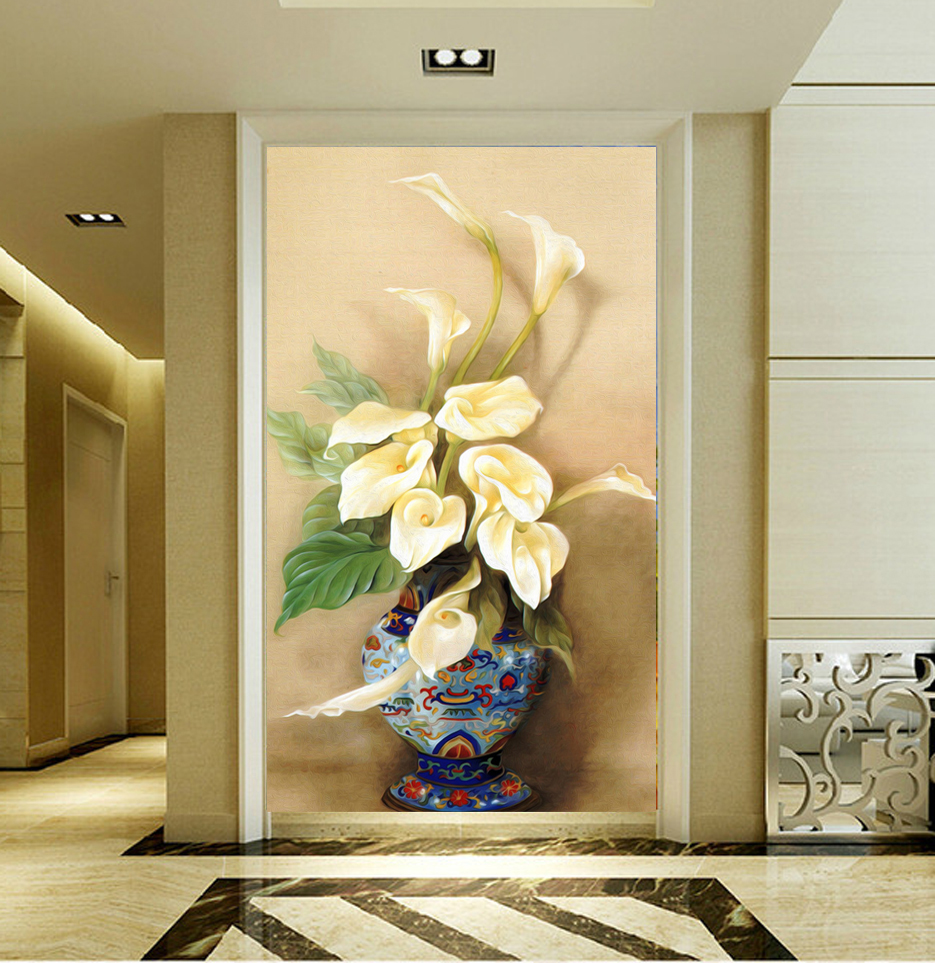 Porch Corridor Art Restaurant Flowers Modern Painting On The Wall ...