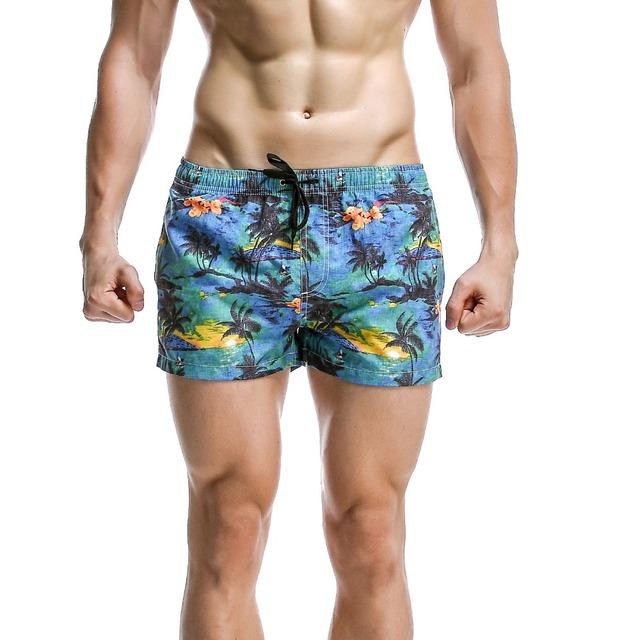 New SEOBEAN men's shorts print spotrs shorts Quick Drying Men Shorts Beach Shorts 6 colors size S/M/L/XL