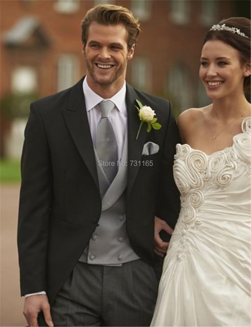 Black slim fit blazer Men Suit New Designer mens blazer Suit  3 pieces Wedding Suits (jacket+pants+vest )