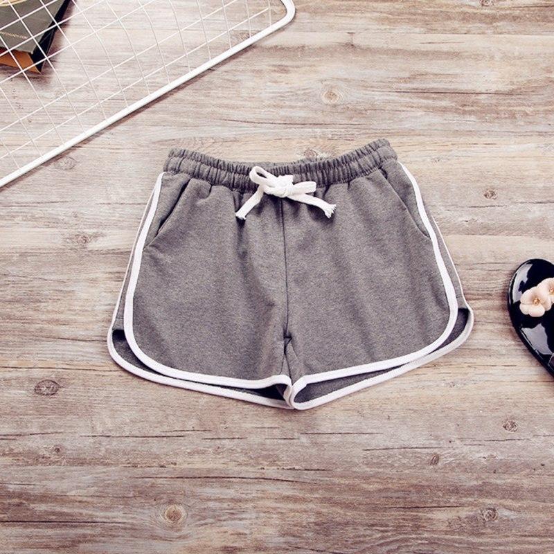 Korean Style Leisure Elastic Waist Women Drawstring   Shorts   With Pocket Female Casual   Short   Feminino Fitness
