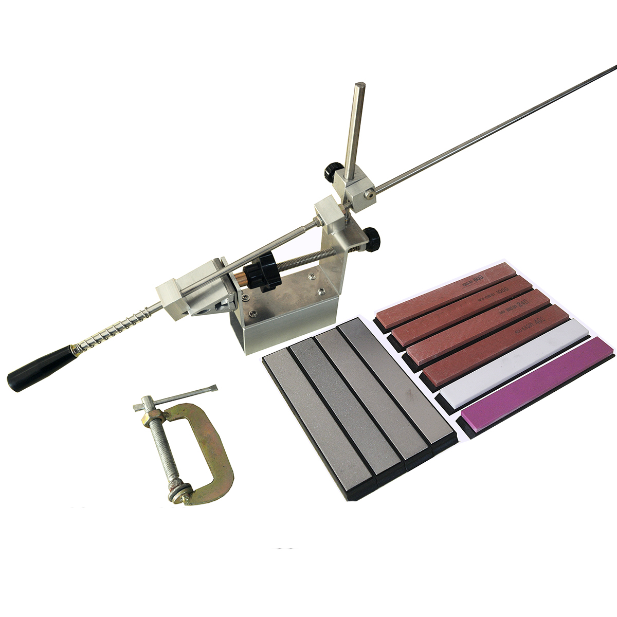 Pro Aluminum Alloy Steel Professional Knife Sharpener Tool Sharpening Machine Kitchen Accessories Grinding Device Bar Diamond