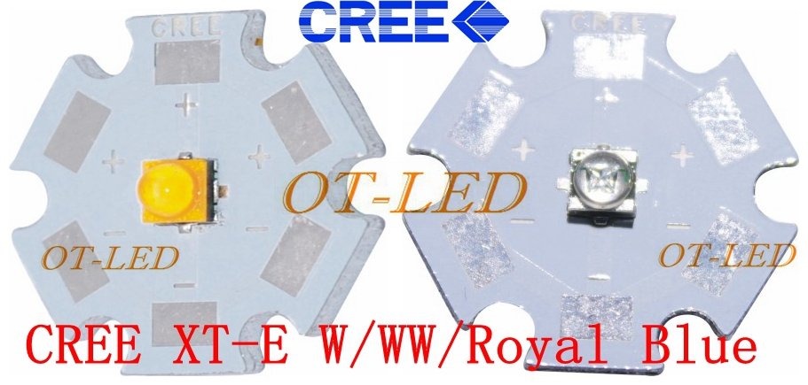 10pcs  Cree XTE LED XT-E 1-5W LED Emitter Warm White 3000-3200K; Cold White 6500-7000K; Royal Blue 450-452nm LED with 20MM PCB одеяла anna flaum одеяло flaum herbst 150х200 всесезонное