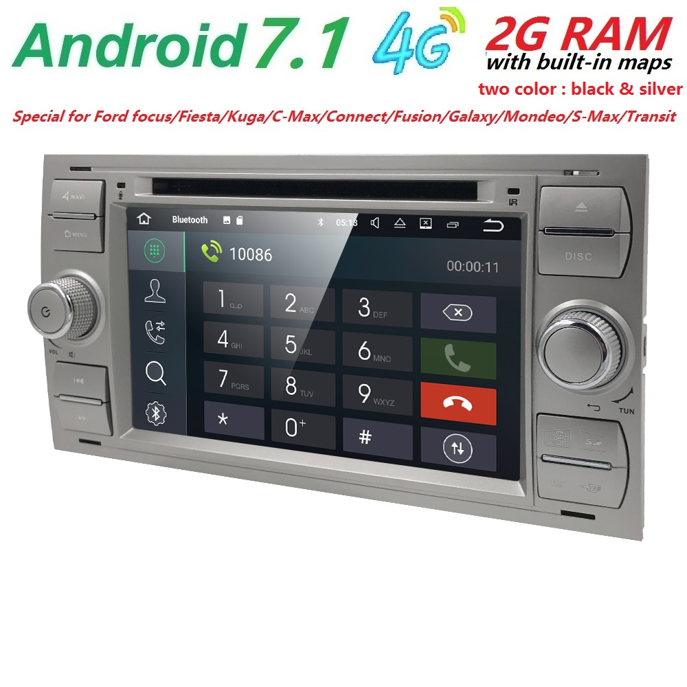 4g quad core 2 din 1024 600 android7 1 car dvd player for ford