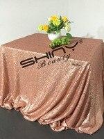 ShinyBeauty 90x156 inç Için Işık Allık Pembe Payet masa Örtüsü Yerleşimi Düğün/Parti/Doğum Günü Olaylar Dekorasyon & bir