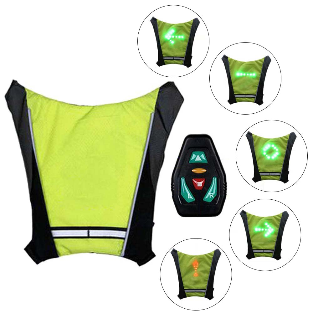Cycling Special Section Led Wireless Cycling Vest Safety Led Turn Signal Light Bike Bag Safety Turn Signal Light Vest Bicycle Reflective Warning Vests