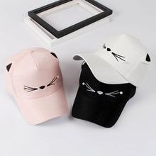 2017 Baby girl cute ear corner baseball cap child rebound summer adjustable sun hat child hip hop hat