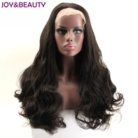 JOY BEAUTY 4 Brown Colors Synthetic Hair Lace Front Wig Long Wavy Wigs For African American