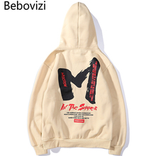 Bebovizi Men Hip Hop Hoodie Sweatshirt Letter M Print 2019 Streetwear Hoodie Harajuku Pullover Sweat Shirt Autumn High Quality zildjian classic sweat shirt m