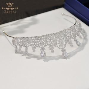 Image 3 - Bavoen Fashion CZ Crystal Brides Crown Tiara Princess Headband For Brides Wedding Hair Accessories Evening Hair Jewelry
