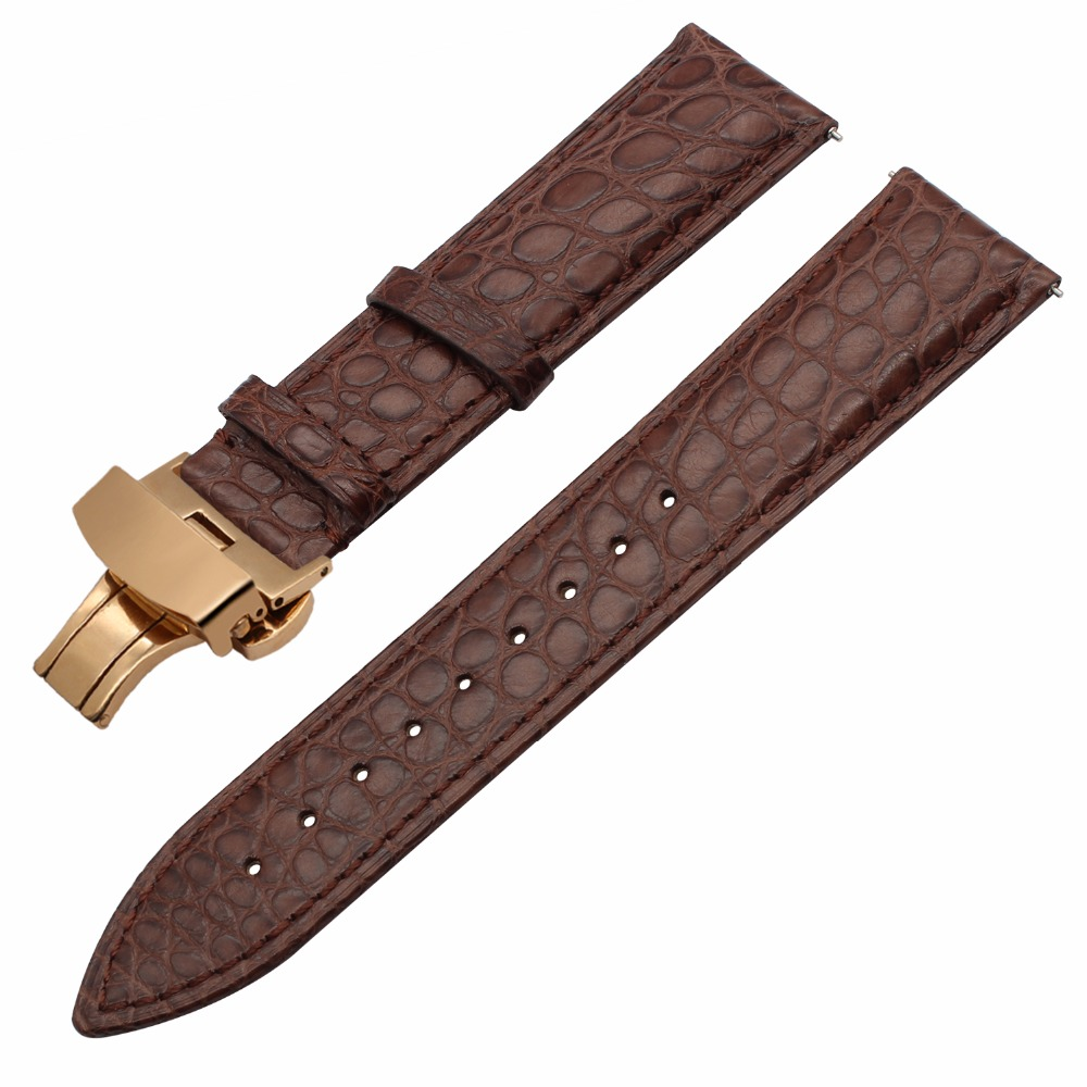 Image 5 - Genuine Alligator Leather Watchband for Orient Jacques Lemans Frederique Constant Watch Band Croco Strap Bracelet 18mm 20mm 22mm-in Watchbands from Watches
