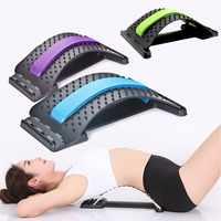Costas massageador maca para fitness estiramento relaxar apoio lombar alívio da dor lombar alongamento postura corrector chiropract