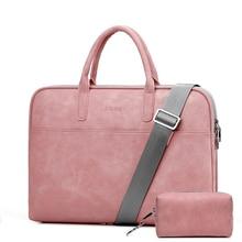 13.3 14 15.4 15.6 inch PU Laptop Shoulder Bag for Macbook Air Pro 13 15 Laptop Sleeve Case Cover for Xiaomi Lenovo Women Bags все цены
