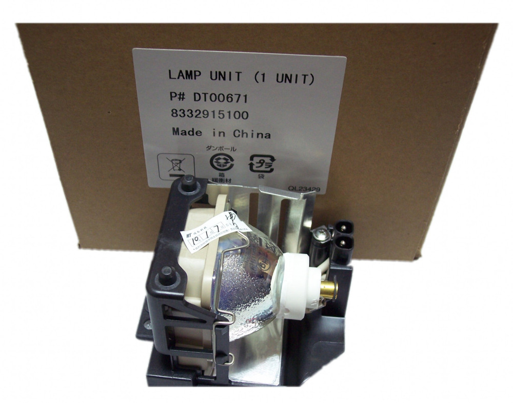 DT00671 ORIGINAL Projector Lamp WITH HOUSING for hitachi CP-X335 / CP335 / 345  / X340 / X3350 / X3400 / X3450 free shipping free shipping dt00757 compatible replacement projector lamp uhp projector light with housing for hitachi projetor luz lambasi