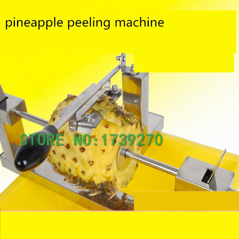 2018 New Hand crank Peeler Peeling Machine stainless pineapple peeling machine with a free pineapple knife green walnut peeling machine fresh walnut peeler green walnut peeler machine