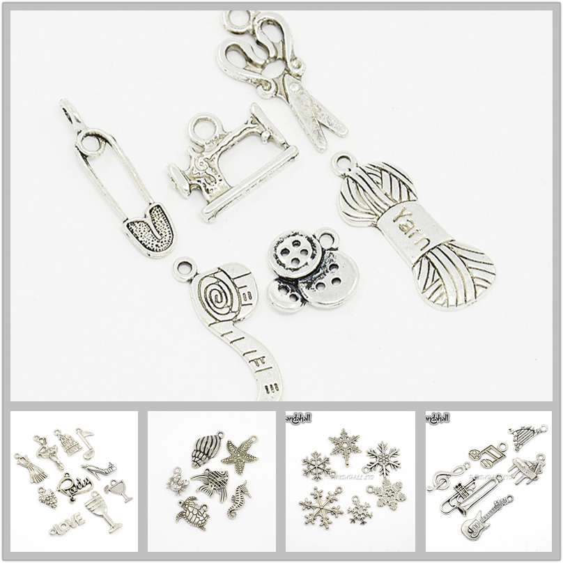 Baby Charm//Pendant Tibetan Antique Silver 24mm  10 Charms Accessory Jewellery