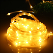 Buy rope lights and get free shipping on aliexpress ship from us ledertek string lights 33ft 100 led solar rope decorative lamps for patio garden aloadofball Images