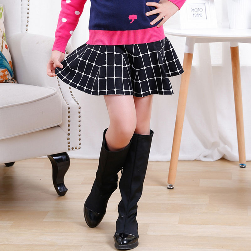V-TREE Girls Skirts Spring Autumn Winter Knitted Skirt For Teenagers Girl Princess Clothing Children Costume Fashion Clothes