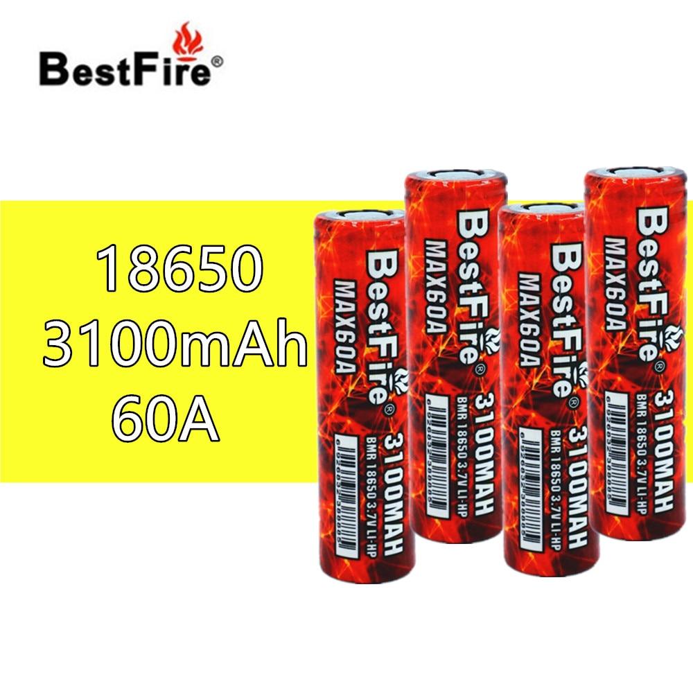 4pcs Bestfire 18650 3100mAh 60A Rechargeable Battery VS VTC6 for SMOK eleaf Joyetech IJOY Kangertech Vape