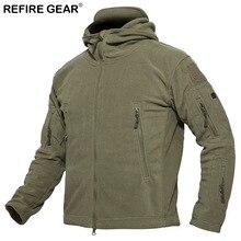 ReFire Gear Winter Windproof Outdoor Jacket Men Warm Windbreaker Fleece Hiking Tactical Jacket Man Hunting Camping Skiing Coat недорого