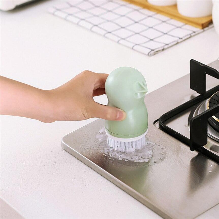 Saingace Cleaning Brush Plastic Household Vegetable Fruit Brush Cleaning Tools Drop Shipping 80130