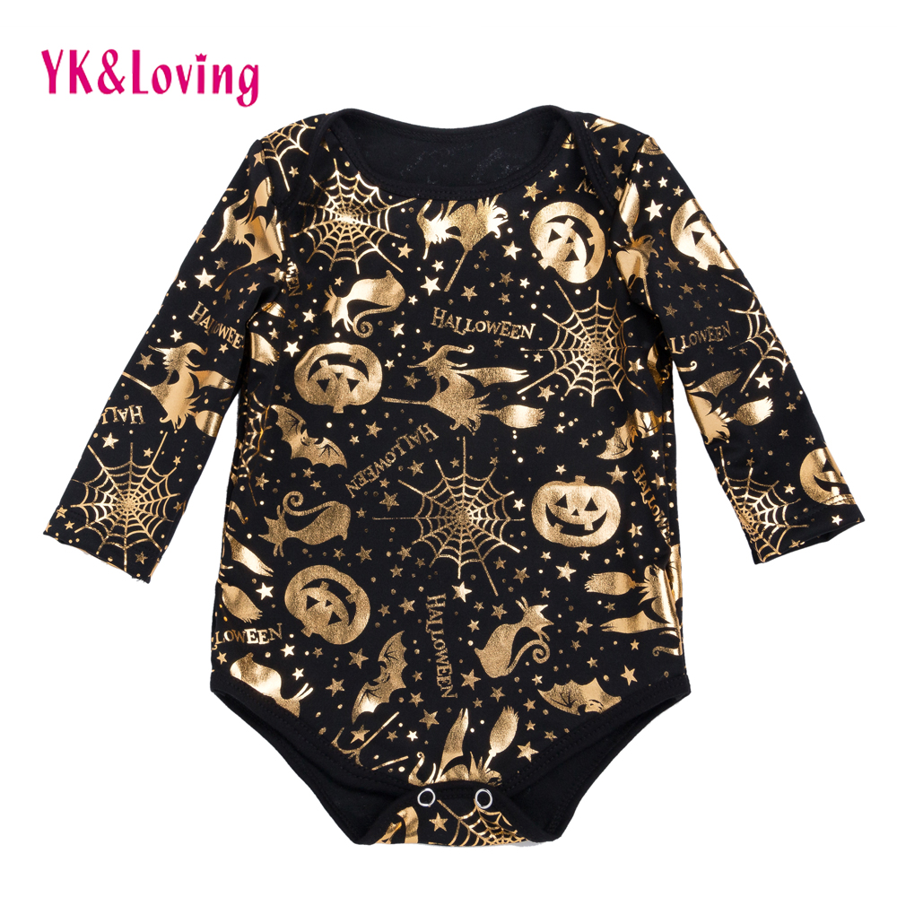 Halloween Rompers Baby Boy Girls Clothes Cotton Long Sleeve Romper 2017 New Arrival Jumpsuit overalls Newborn Infant Clothing new newborn rabbit baby girl rompers cotton clothes long sleeve jumpsuit romper infant unisex boy body pajamas overalls clothing