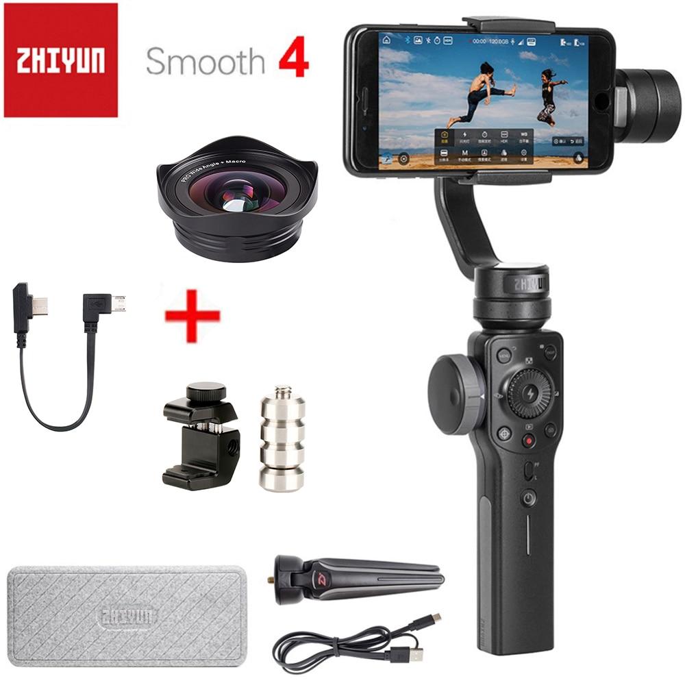 Zhiyun Lisse 4 Q 3-Axes De Poche Smartphone stabilisateur de cardan Contrepoids pour Équilibrage lentille de téléphone pour l'iphone XS X 8 P 8 7 P 7