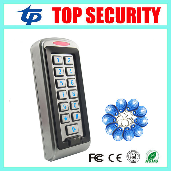 IP68 waterproof out door use RFID card door access controller 125KHZ ID EM card standalone single door access control reader ip65 waterproof rfid card reader access control panel 8000 users single door 125khz id em card access controller 10pcs id card