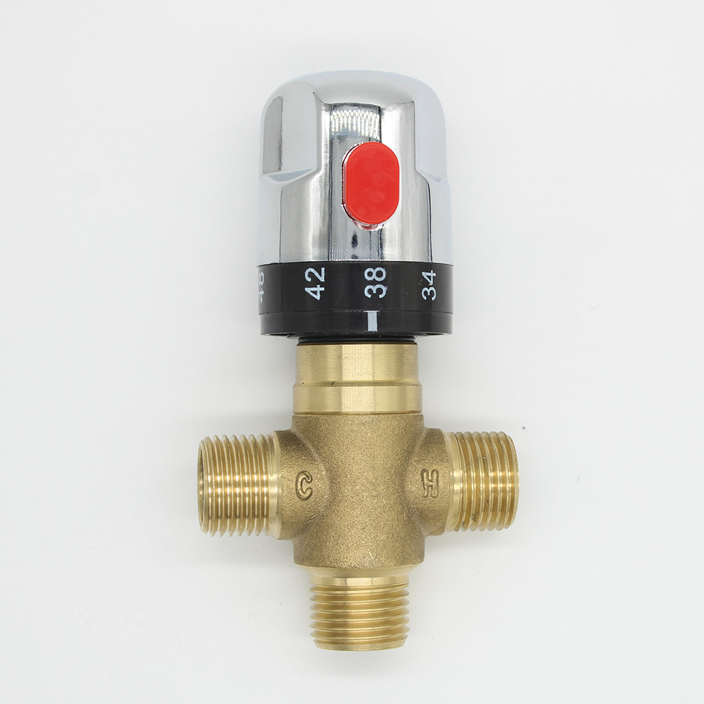 Brass Thermostatic Mixing Bath Tub Valve Pipe Thermostat Valve Control Chrome фонокорректоры audio valve sunilda silver chrome