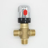 Brass Thermostatic Mixing Bath Tub Valve Pipe Thermostat Valve Control Chrome